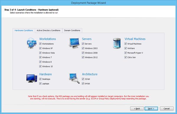 FastTrack Softawres MSI to EXE repackaging